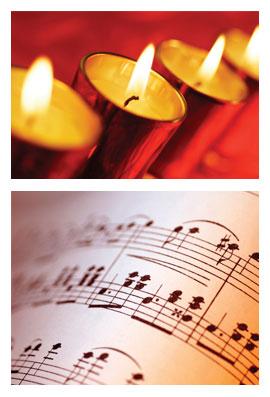 Tända ljus och musik