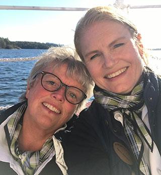 Madeleine Ljungfeldt och Therese Backlund